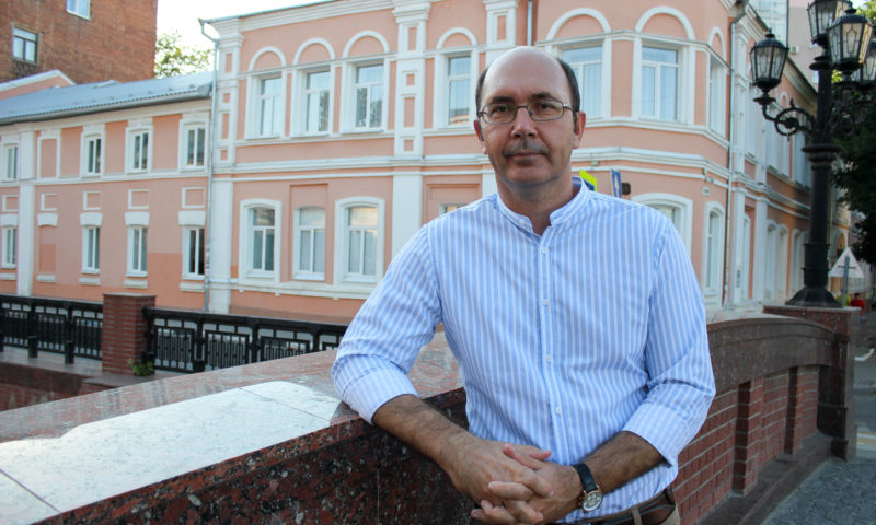 Игорь Балановский на мосту